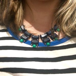Jewelry - Beautiful Navy and Green Necklace